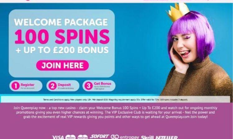 Queenplay - £200 Welcome Bonus
